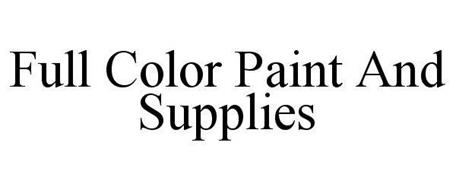 FULL COLOR PAINT AND SUPPLIES