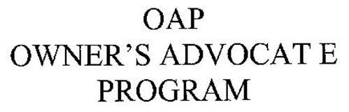 OAP OWNER'S ADVOCATE PROGRAM