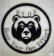 B.Y.O. E. BEAR YOUR OWN EFFORT