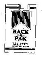 HACK-A-PAC LIGHTS LOWERED TAR & NICOTINE