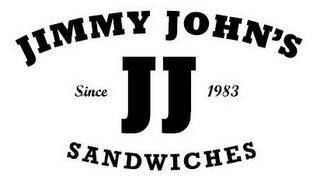JIMMY JOHN'S SINCE 1983 JJ SANDWICHES