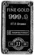 FINE GOLD 999.9 37.5 GRAMS ASSAYES PUREST MADE IN USA 9999 JJ FINE GOLD