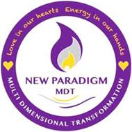 NEW PARADIGM MDT LOVE IN OUR HEARTS ENERGY IN OUR HANDS MULTI DIMENSIONAL TRANSFORMATION
