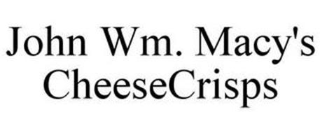 JOHN WM. MACY'S CHEESECRISPS