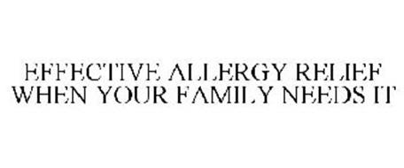 EFFECTIVE ALLERGY RELIEF WHEN YOUR FAMILY NEEDS IT