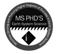 MS PHD'S EARTH SYSTEM SCIENCE MINORITIES STRIVING AND PURSUING HIGHER DEGREES OF SUCCESS IN EARTH SYSTEM SCIENCE