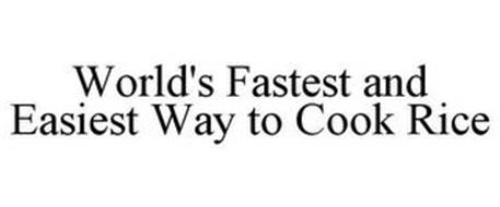 WORLD'S FASTEST AND EASIEST WAY TO COOK RICE