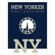NEW YORKER FINE LAGER BEER NY