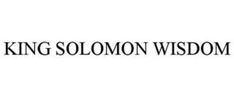 KING SOLOMON WISDOM