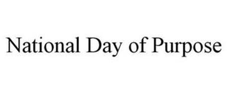 NATIONAL DAY OF PURPOSE
