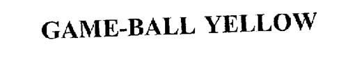 GAME-BALL YELLOW