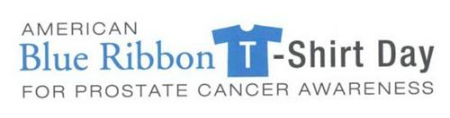 AMERICAN BLUE RIBBON T-SHIRT DAY FOR PROSTATE CANCER AWARENESS