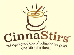 CINNASTIRS MAKING A GOOD CUP OF COFFEE OR TEA GREAT ONE STIR AT A TIME!