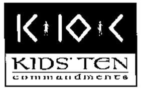 K 10 C KIDS' TEN COMMANDMENTS