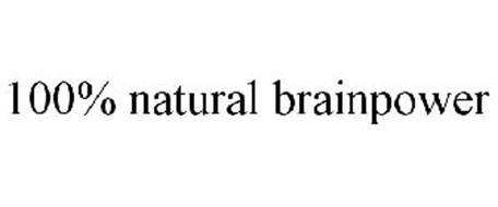 100% NATURAL BRAINPOWER
