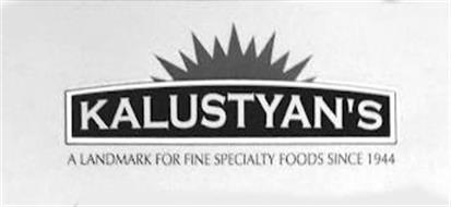 KALUSTYAN'S A LANDMARK FOR FINE SPECIALTY FOODS SINCE 1944