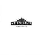 KALUSTYAN'S ESTABLISHED 1944