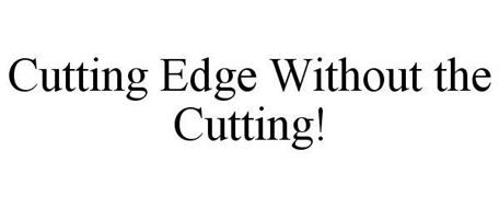 CUTTING EDGE WITHOUT THE CUTTING!
