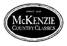 MCKENZIE COUNTRY CLASSICS SINCE 1907