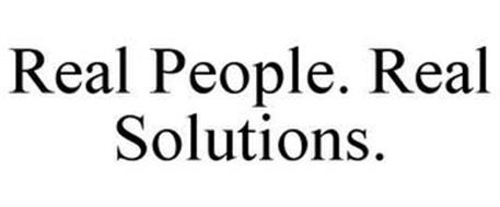 REAL PEOPLE. REAL SOLUTIONS.