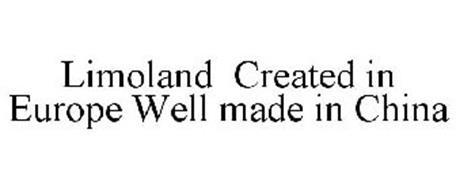 LIMOLAND CREATED IN EUROPE WELL MADE IN CHINA