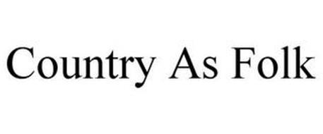 COUNTRY AS FOLK