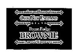 OLDE NEW ENGLAND BRAND PECAN FUDGE BROWNIE WITH PURE CHOCOLATE MORSELS
