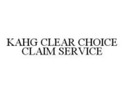 KAHG CLEAR CHOICE CLAIM SERVICE