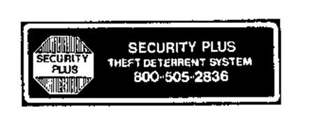 SECURITY PLUS THEFT DETERRENT SYSTEM 800 505 2836
