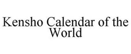 KENSHO CALENDAR OF THE WORLD