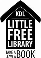 KDL LITTLE FREE LIBRARY TAKE A LEAVE A BOOK