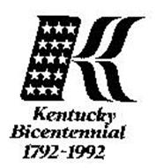 K KENTUCKY BICENTENNIAL 1792-1992