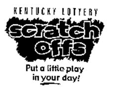 KENTUCKY LOTTERY SCRATCH OFFS PUT A LITTLE PLAY IN YOUR DAY!