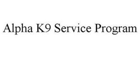 ALPHA K9 SERVICE PROGRAM