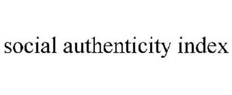 SOCIAL AUTHENTICITY INDEX
