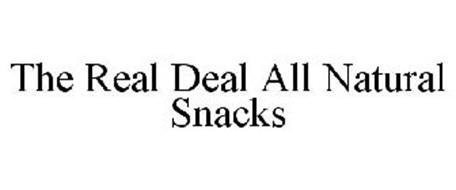 THE REAL DEAL ALL NATURAL SNACKS
