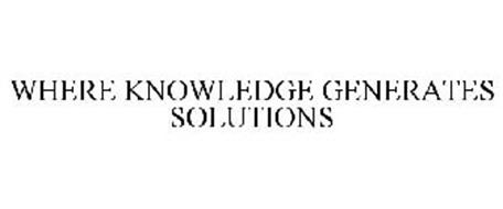 WHERE KNOWLEDGE GENERATES SOLUTIONS