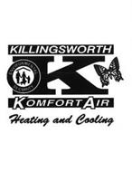 K KILLINGSWORTH KOMFORT AIR HEATING AND COOLING ENVIRONMENTAL SECURITY