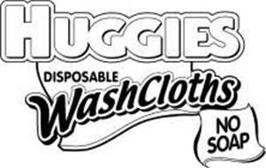 HUGGIES DISPOSABLE WASHCLOTHS NO SOAP