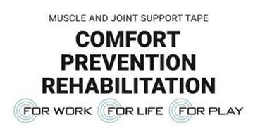 MUSCLE AND JOINT SUPPORT TAPE COMFORT PREVENTION REHABILITATION FOR WORK FOR LIFE FOR PLAY