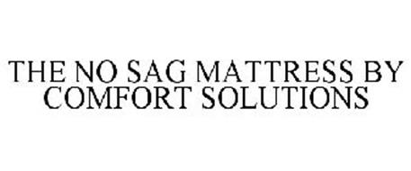 THE NO SAG MATTRESS BY COMFORT SOLUTIONS