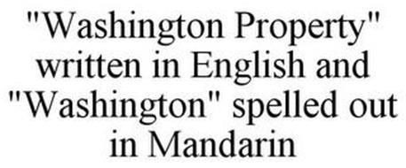 WASHINGTON PROPERTY