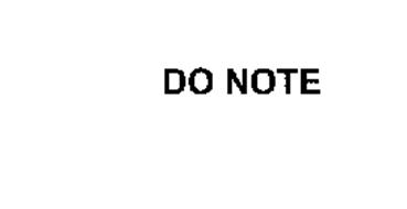 DO NOTE