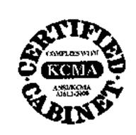 Certified Cabinet Complies With Kcma Ansi Kcma A161j 2000