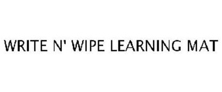 WRITE N' WIPE LEARNING MAT