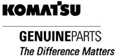 KOMATSU GENUINEPARTS THE DIFFERENCE MATTERS