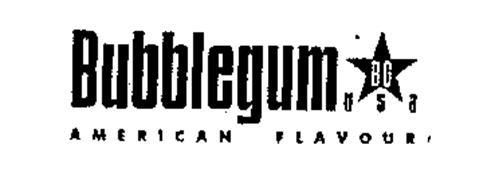 BUBBLEGUM BG USA AMERICAN FLAVOUR Trademark of Komex ...