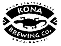 HAND CRAFTED ALES KONA BREWING CO. KONA, HAWAII