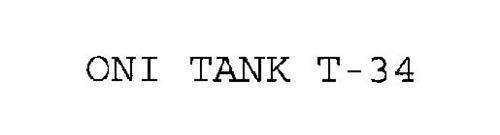ONI TANK T-34