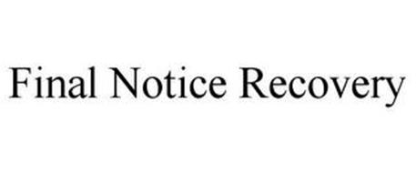 FINAL NOTICE RECOVERY